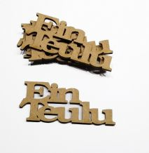wooden  EIN TEULU our family craft  shapes, laser cut 3mm mdf embellishments